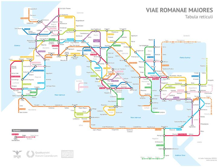Geography and data nerd Sasha Trubetskoy created a subway map of the major Roman roads, based on the Empire of ca 125 AD