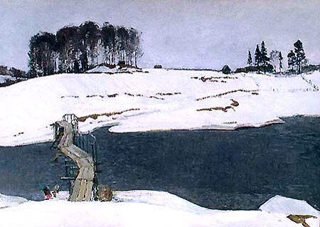 M A E V S K Y D M I T R Y ( 1917 - 1993 ) Winter in the village of Podol 1973