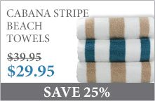 Cabana Stripe Beach Towels