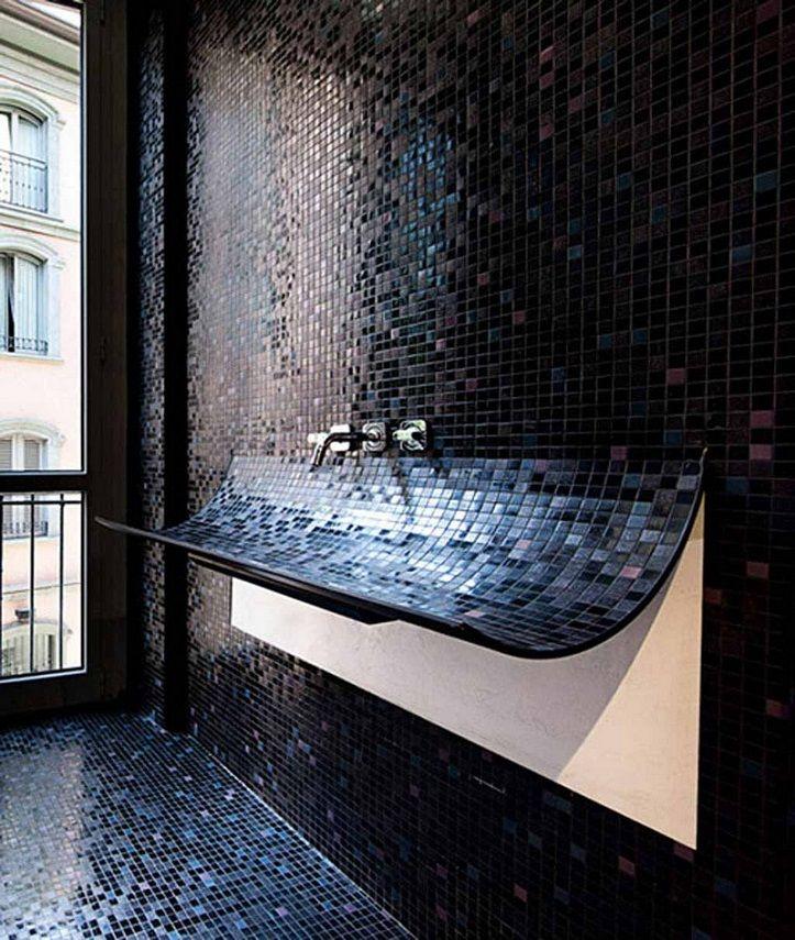 Revetement Mural Salle De Bain 55 Carrelages Et Alternatives Salle De Bain Design Lavabo Design Idee Salle De Bain