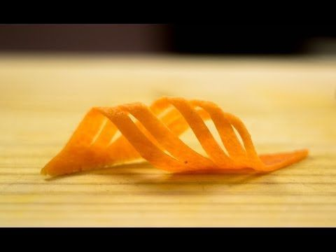Garnish Tutorial Carrot Swirls and Vegetable Triangle Twisties - YouTube
