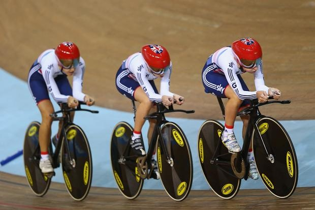 Feb 21 A searing ride from Dani King, Laura Trott and Elinor Barker secured Great Britain's fifth world team pursuit title in six years.