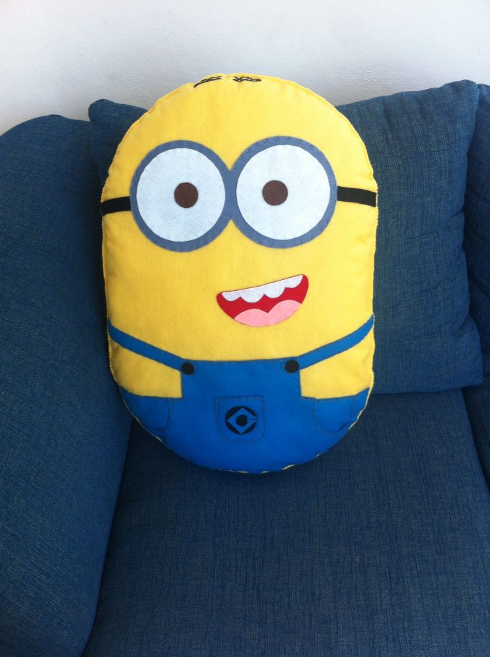Cute Minion, felt pillow, handmade