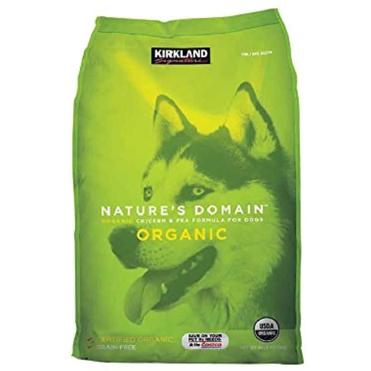 Kirkland Signature Nature's Domain USDA Organic Chicken & Pea Formula Dry Dog Food in 30 Pounds Bag @ You can find out more about the great product at the image link. (This is an affiliate link and I receive a commission for the sales)