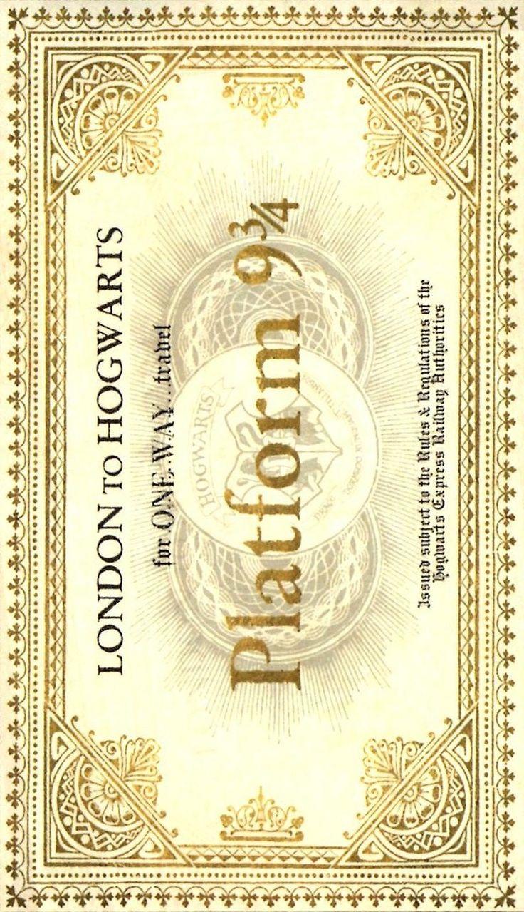 My ticket to Hogwarts <3
