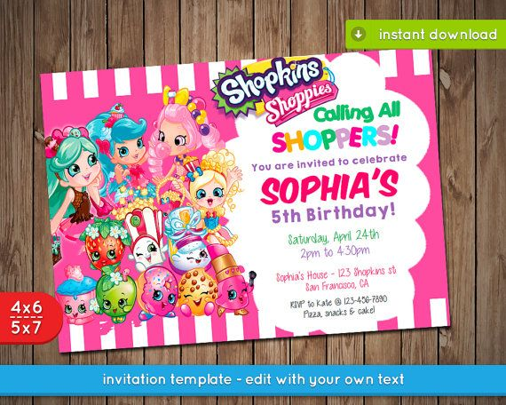 Best 25 Shopkins Invitations Ideas On Pinterest Shopkins Party