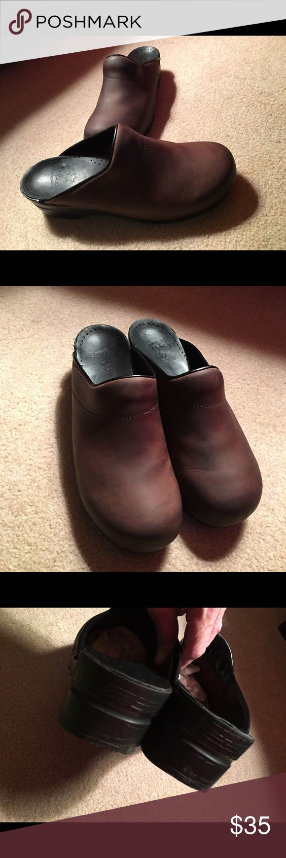 Dansko Brown Leather Clogs. Sz 45. Great Condition. Sz 45. Comfortable. Dansko Shoes Flats & Loafers