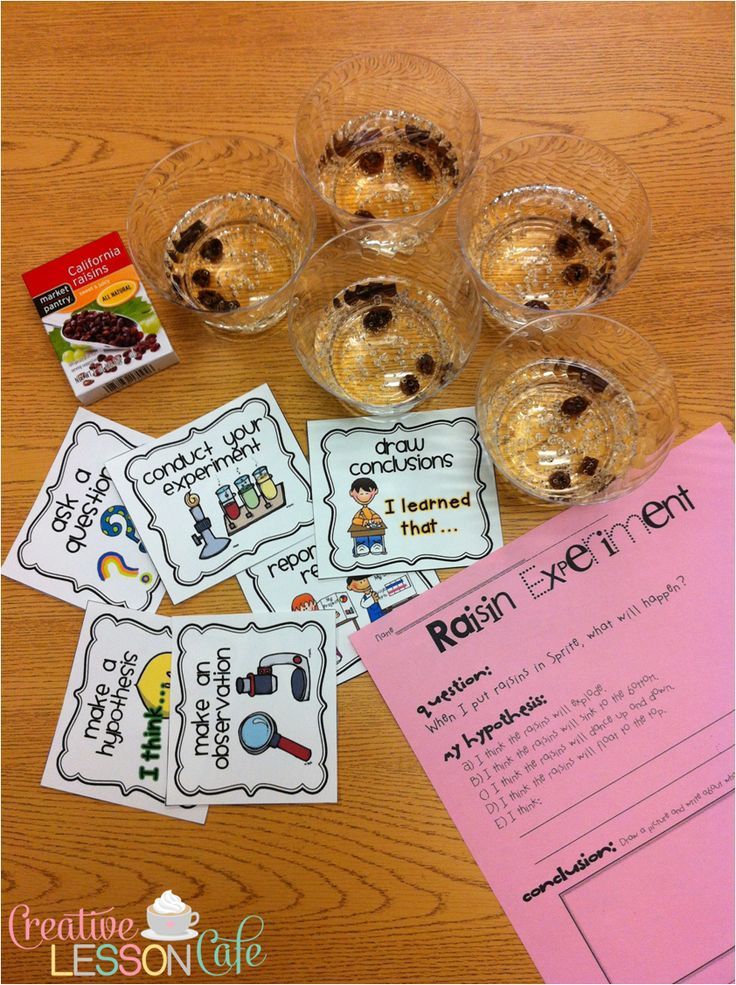 Great Idea for beginning a science unit...Dancing Raisins Experiment: Simple Science Fun! - Creative Lesson Cafe