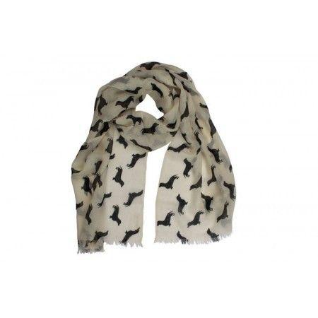 Dachshund Cashmere/wool Scarf - £44.50