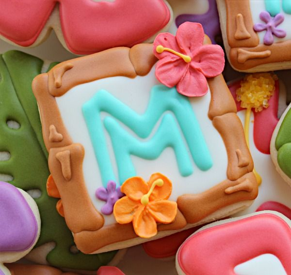 How to make bamboo borders on cookies