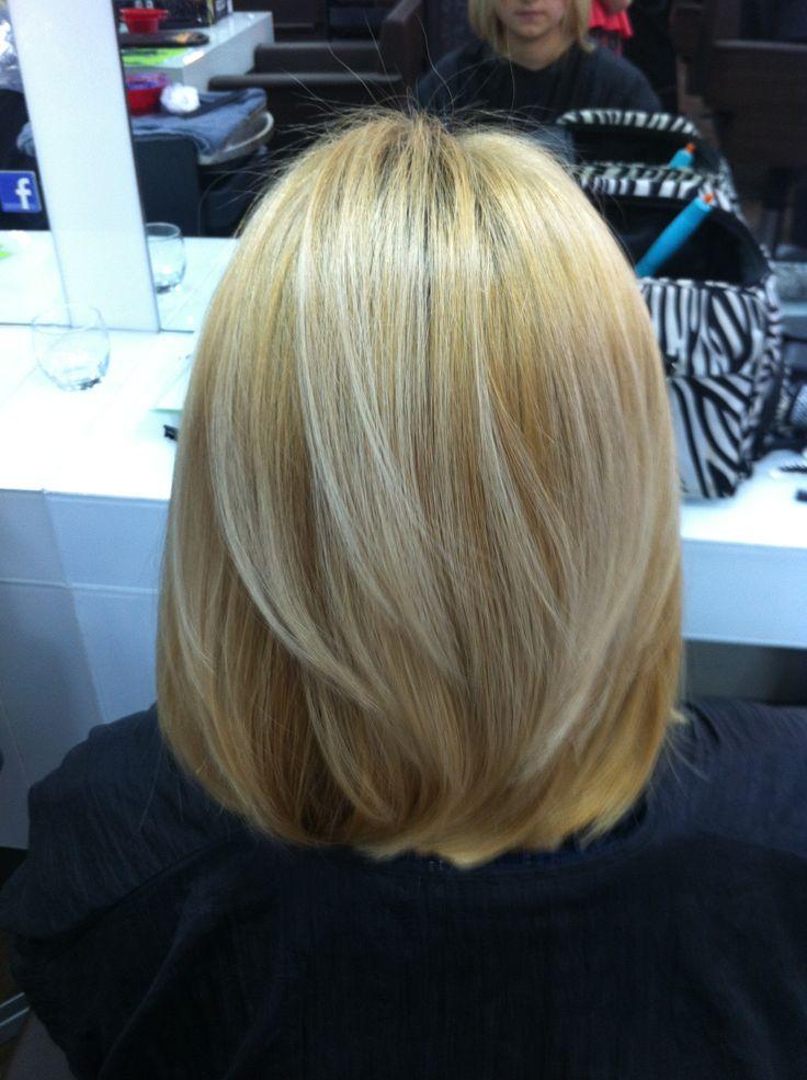 V shaped haircut with side bangs
