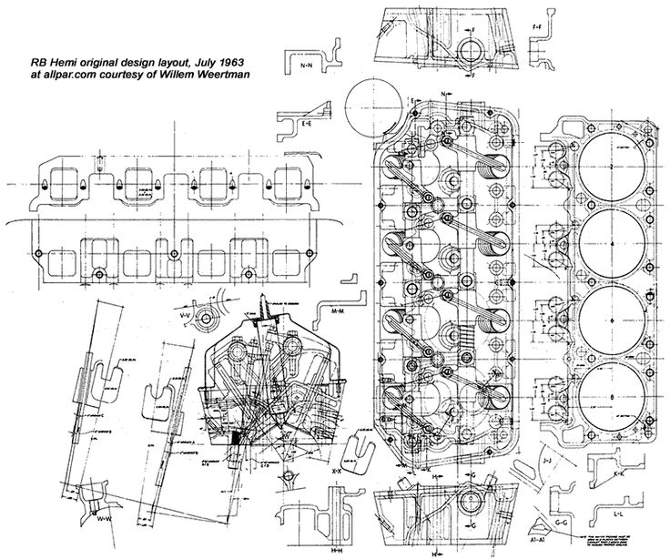 Hemi Engine Layout Race Car Blueprints Pinterest