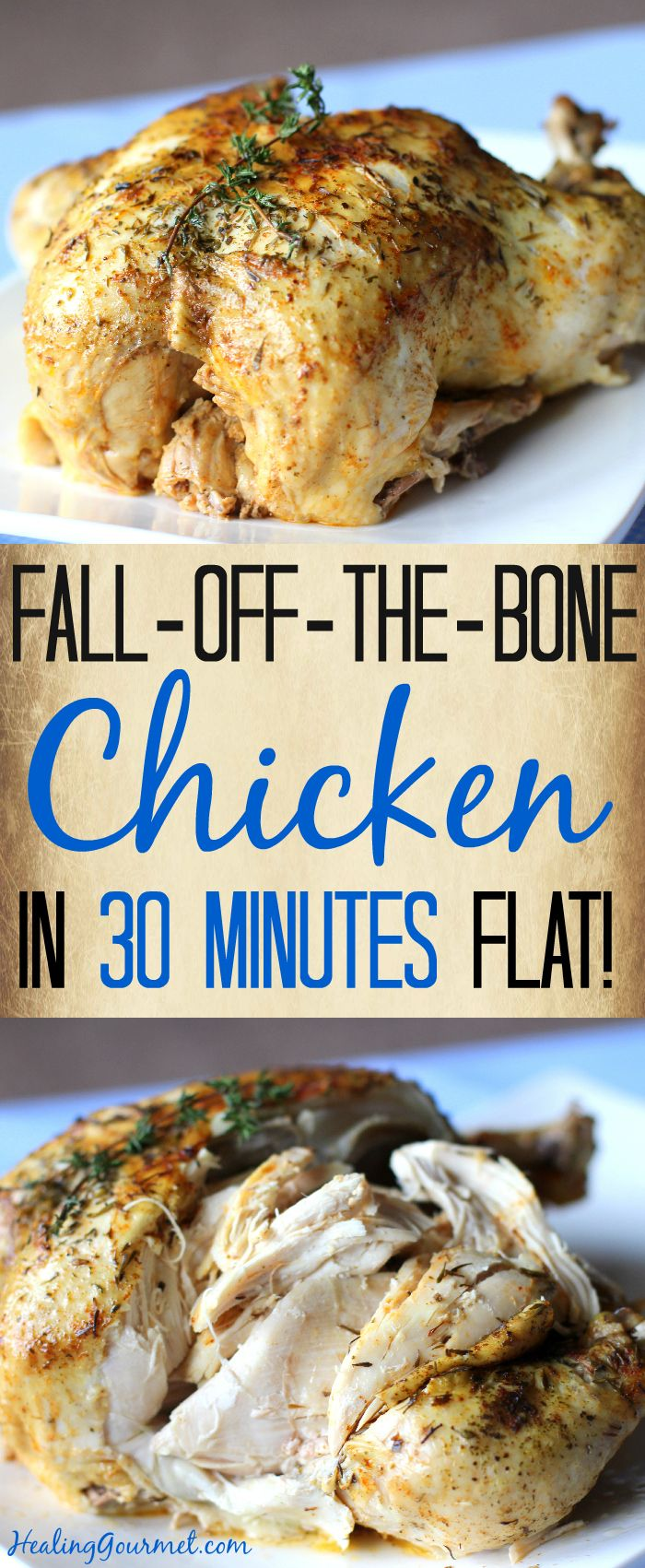 Fall-Off-The-Bone Pressure Cooker Chicken (in 30 Minutes!) - Made this...and it is excellent!