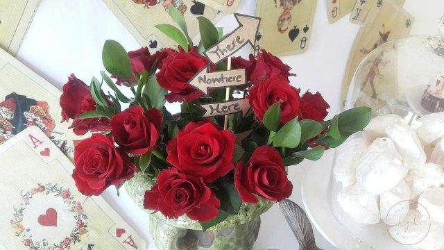 alice and wonderland party roses