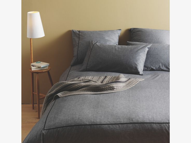 Quirky Bed Linen Part - 28: Chambray Bedlinen Range With Quirky Wallace Table And Lamp In