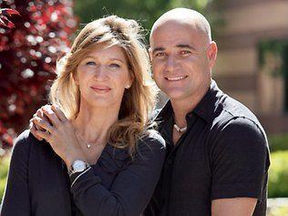 Tennis Legends: Steffi Graf and her husband Andre Agassi.