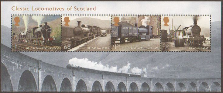 Classic Locomotives of Scotland from the 2012 Miniature sheet