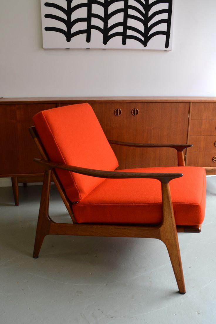 Australian Parker armchair, refurbished by tangerine & teal