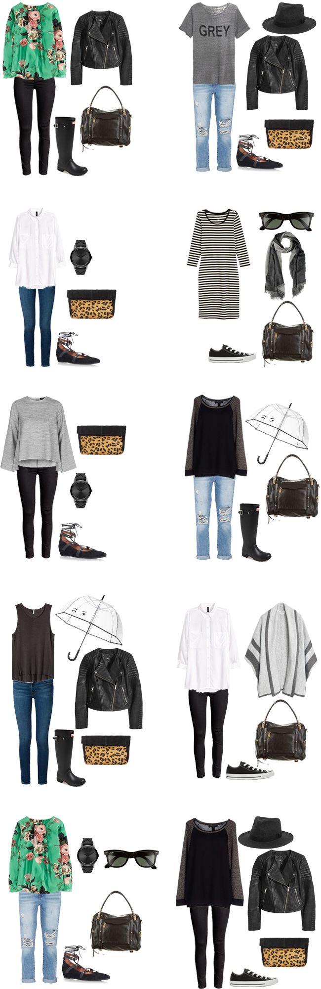 Outfit 1 – Black Tank | Boyfriend Jeans | Cardigan | Purse | Converse Outfit 2 – Grey Pullover | Dark Denim | Sunglasses | Watch | Purse | Flats Outfit 3 – T-shirt | Black Pants | Umbrella |… Continue Reading →