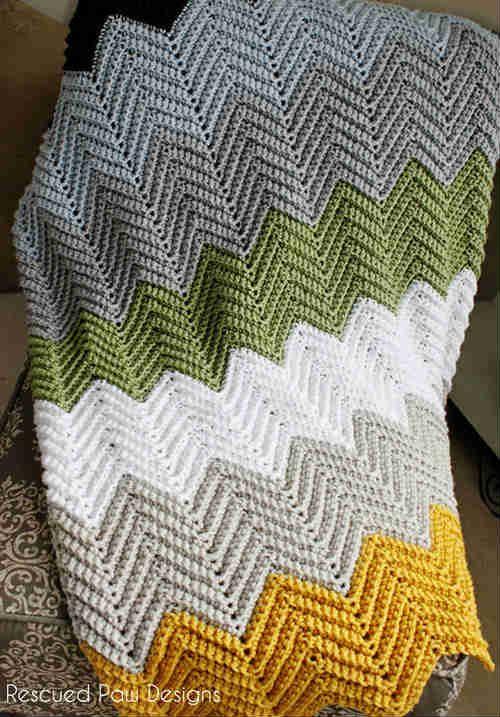 Crochet Chevron Blanket | crochet ideas | Pinterest