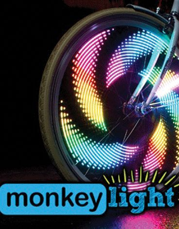 http://www.bellsandwhistles.co.nz/collections/monkeylectric/products/monkeylectric-m232-light MonkeyLectric M232 Bicycle Spoke Light, Bike Light This top selling bike light includes 42 wicked themes and 32 ultra bright full colour LEDs (16 on each side), providing front, rear and side visibility at any speed. #spokelight #monkeylectric #bicyclelight #bikelight