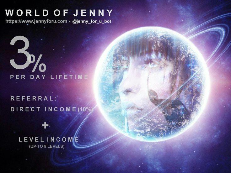 7th Generation Advance Auto Trading BOT JENNY, GIVES 3% DAILY https://www.jennyforu.com/?upline=216247182