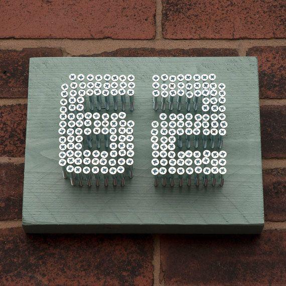 Huis nummer bord  naam Plaque  hedendaagse  stedelijke