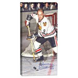Hull,B Signed 14x29 Canvas Blackhawks