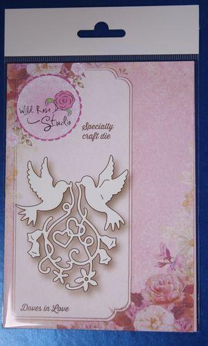 Wild Rose Studio 'Doves in Love' Specialty Die SD065 | eBay