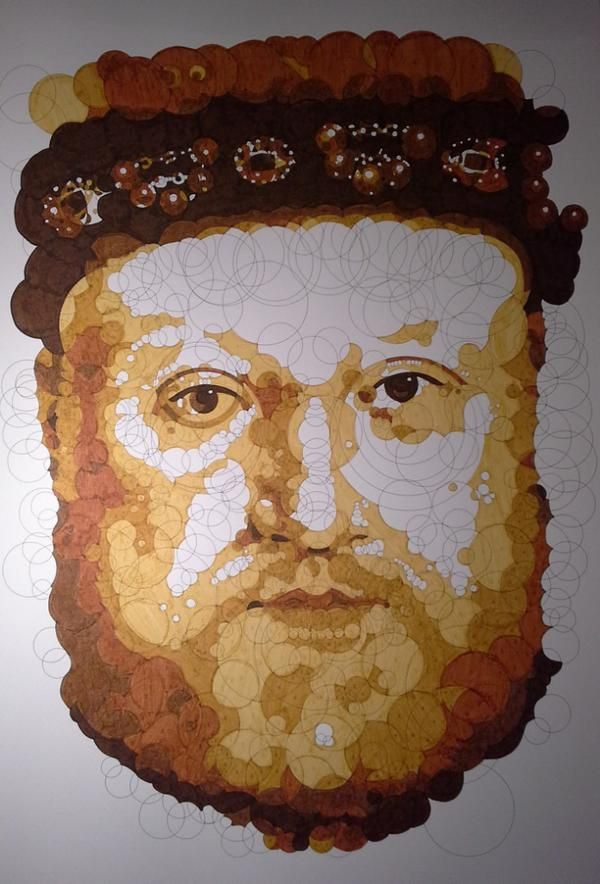 "Querkles Masterpieces: A Puzzling Colour by Numbers Book: by Thomas Pavitte - Hans Holbein the Younger ""Portrait of Henry VIII"