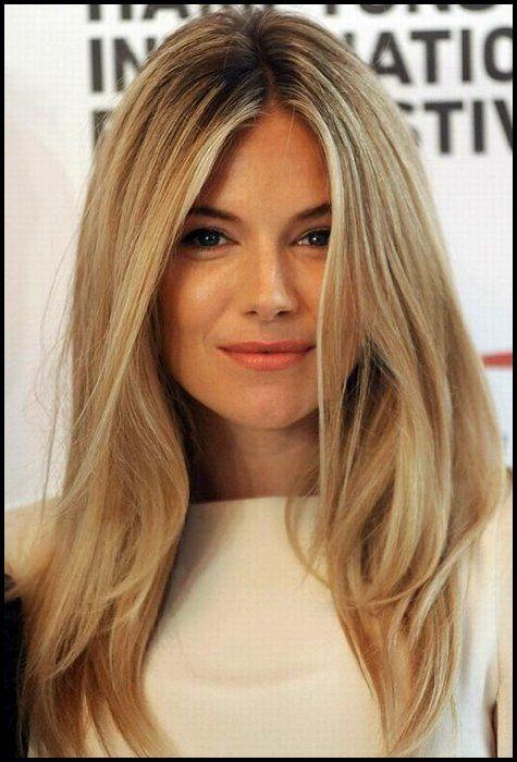 Sienna Miller Haarstil Blondes Glattes Haar Bob Frisuren Unordentliche Frisur Blonde Glatte Haare Haarschnitt