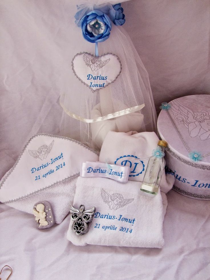 Lumanari botez personalizate cu flori textile, delicate