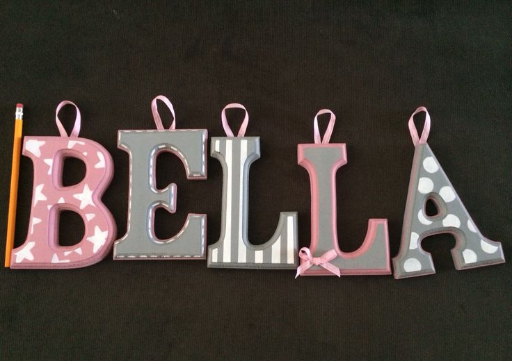 Made this for my baby girl. Wooden letters for baby's room. Baby girl Bella.
