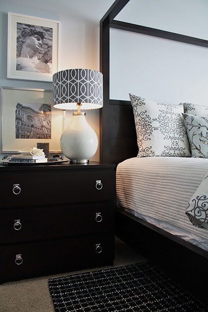 Ikea Malm Dressers As Nightstands With Added Hardware Pulls H O M E Pinterest Lamp Shades