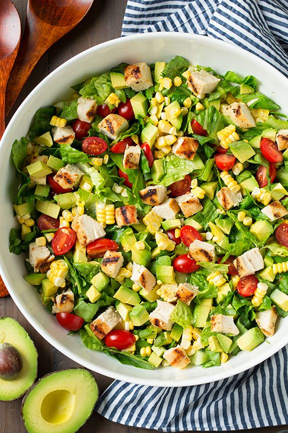 Avocado and Grilled Chicken Chopped Salad with Chipotle-Lime Ranch   Cooking Classy