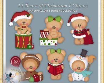 Baby Cliparts junge Teddybär digitales von MagicmakerScraps auf Etsy