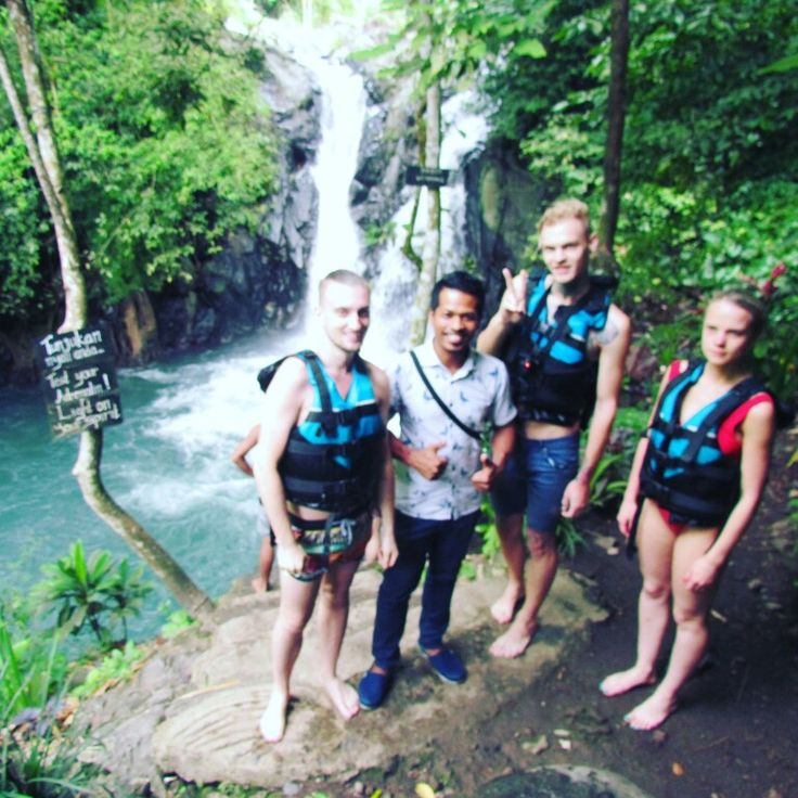 With Russian guys doing adventure at sambangan secret garden
