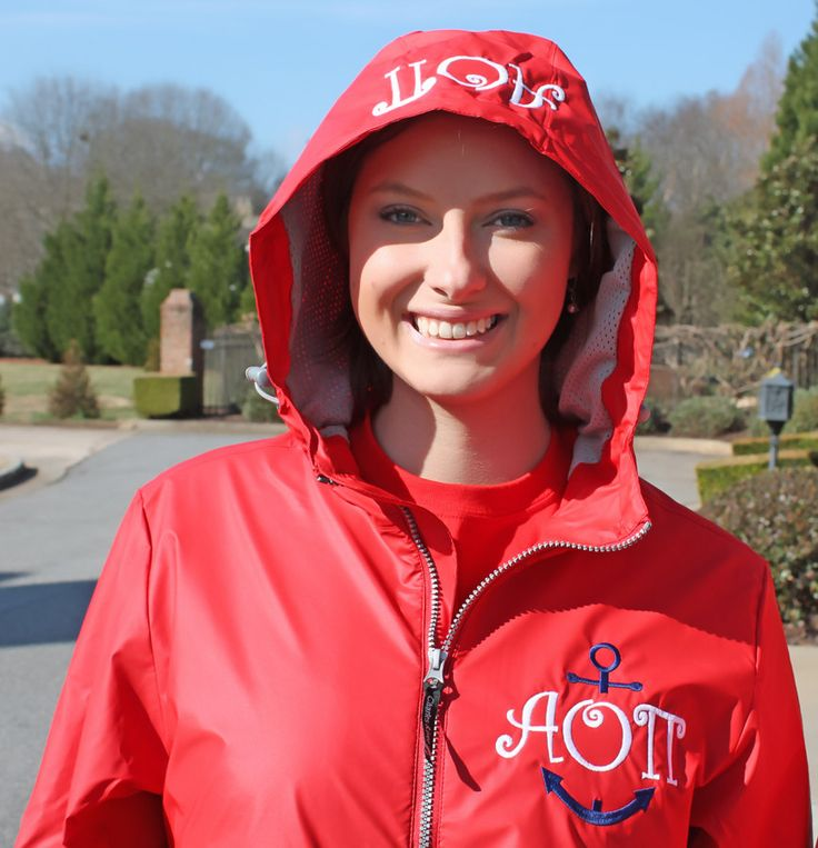 Greek Raincoats are the perfect gift for your preppy sorority girl who wants to look cute and classy on those awful rainy days! This is the perfect Personalized Gift for Her, Christmas Gift or Fashion Accessory. ♥Product Details♥ - Jacket has a very flattering feminine fit - Lined with a grey mesh - Pockets with zippers - Wind & waterproof ♥♥♥♥ REQUIRED INFORMATION FOR EACH ORDER ♥♥♥♥ PLEASE PUT IN NOTES TO SELLER AT CHECKOUT: 1. Raincoat Size: 2. Sorority: 3. Thread Color: 4. Font Ch...
