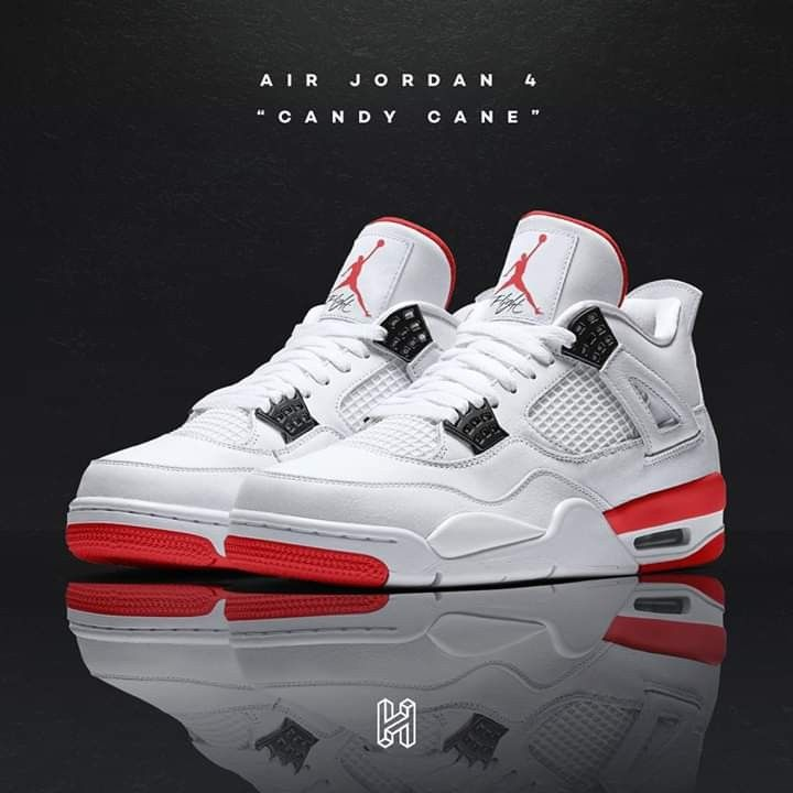 low priced c90ae 26f7c Air Jordan 4s Candy Cane 🍭 Concept | SneakerHead in 2019 ...