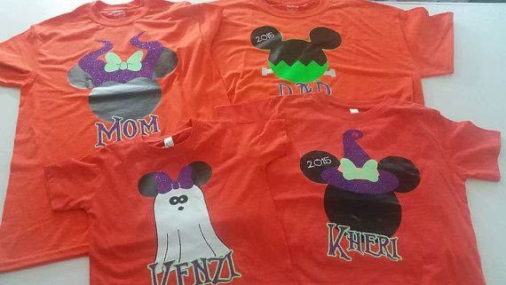 Disney family shirts for Halloween  Can do many different characters! message us with any questions  leave character, name, and which shirt it