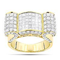 14K Gold Mens Diamond Rings Collection Piece 2.83ct