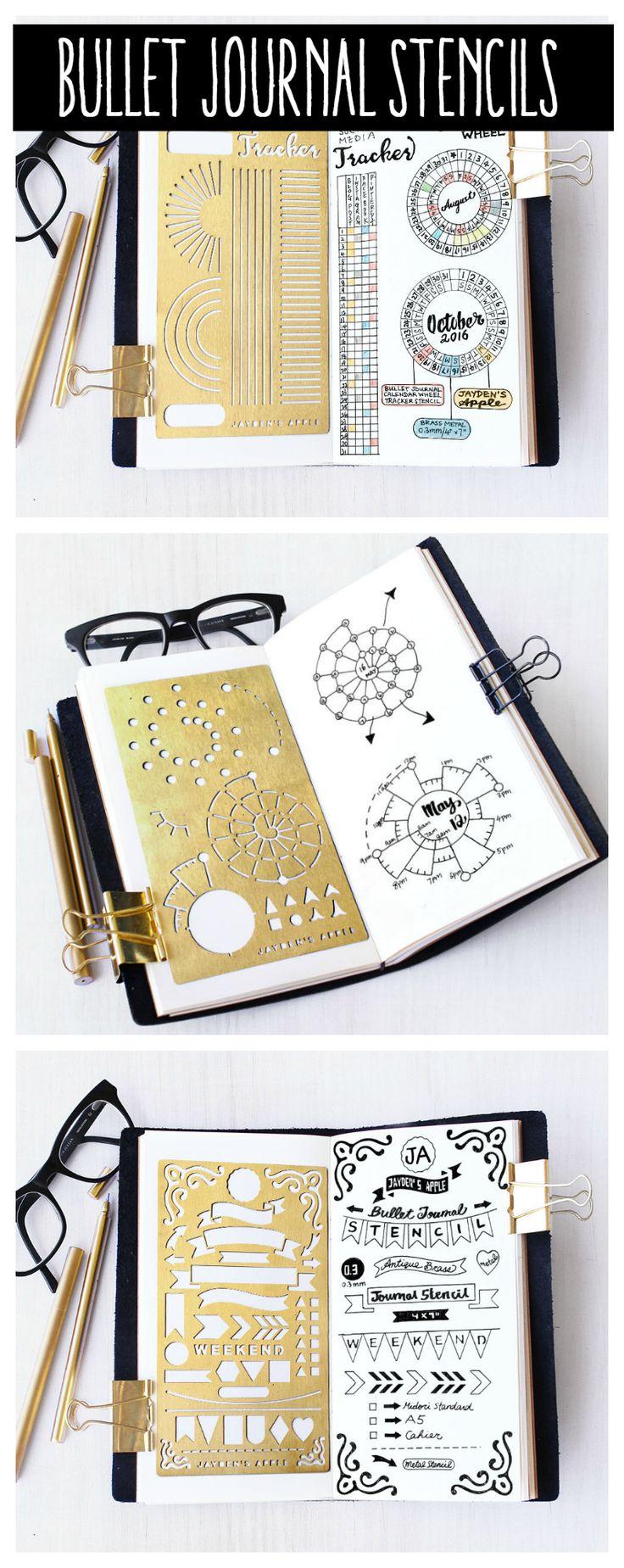 Bullet Journal Stencils #stencils #getorganized #planners #DIY