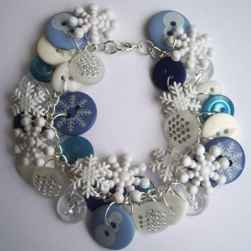 snowflake bracelet DIY- Cute keepsake gift for Ella's first birthday :)