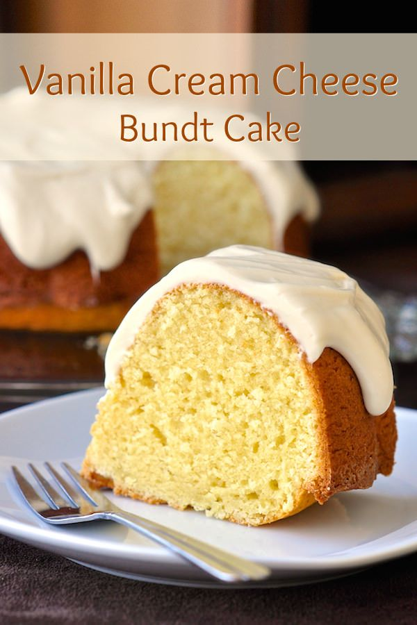 Vanilla Cream Cheese Bundt Cake -Vanilla does not take a back seat in this rich, very flavourful cream cheese bundt cake. A generous cover of vanilla cream cheese glaze adds more indulgence.