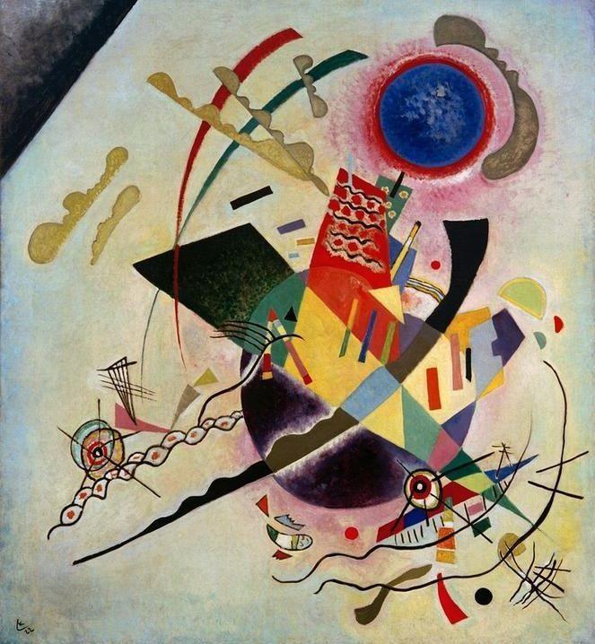 """Wassily Kandinsky - """"Blue Circle"""", 1922"""
