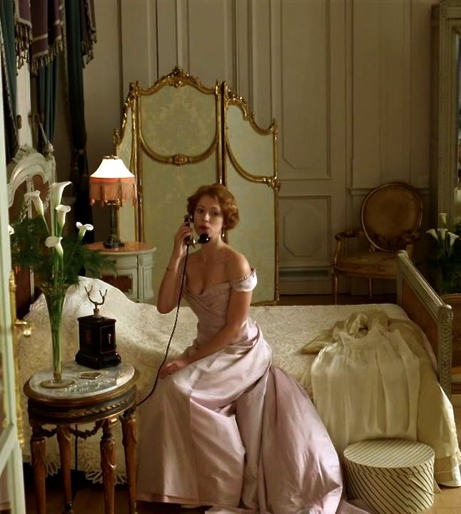 The gown, the room, the hair!  Rebecca Hall as Sylvia Tietjens in Parade's End