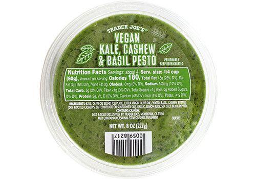 Vegan Kale Cashew Basil Pesto Trader Joes Trader Joes Vegan Pesto