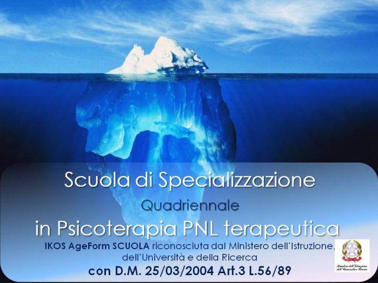 IKOS Ageform è la prima Scuola di Specializzazione Quadriennale in Psicoterapia PNLt in Europa, secondo il modello della Programmazione Neuro Linguistica terapeutica riconosciuta ed accreditata in Italia dal Ministero dell'Istruzione, dell'Università e della Ricerca, con D.M. 25/03/2004 Art.3 L.56/89 come istituto di formazione per Medici e Psicologi che vogliono diventare psicoterapeuti.  Gazzetta Ufficiale della Repubblica Italiana del 7-4-2004 Decreto 25 marzo 2004