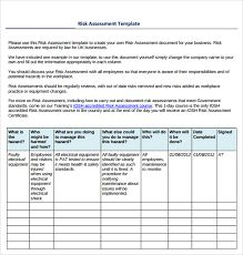 Image result for simple risk assessment template