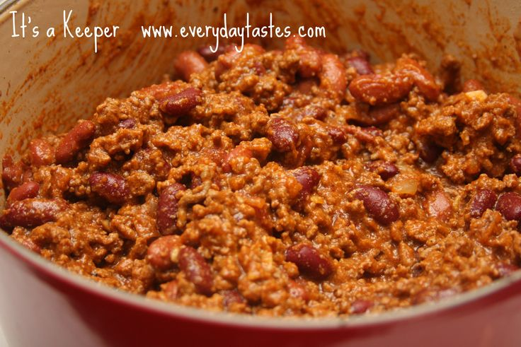 Chili -Ree Drummond [Pioneer Woman] ⭐⭐⭐⭐⭐I followed recipe exactly as specified, then added 1 can drained red beans, no Rotel or onions, served shredded cheese as side condiment. Everyone in my family loved it! The masa made it very filling and actually gave it a wonderful tasty flavor, is definitely replacing my old chili recipe.